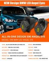 Free Shipping 2x 80W E90 E91 LED Marker Angel Eyes Led Headlight For Bmw Car Styling