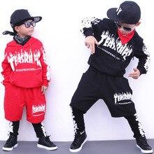 Niños Sudadera con capucha y Pant establece Girls Street Dance ropa Hip Hop  trajes desgaste de los niños los trajes del deporte . 5d7fe04ba80