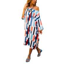 Adogirl Plaid Colorful Asymmetry Women Summer Dress Strapless Loose Slash Neck Female Vestido Casual Pixel Pattern Sundress