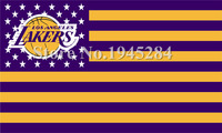LA Lakers US Stars Stripes Flag New 3x5ft 150x90cm Polyester Flag Banner 1065 Free Shipping