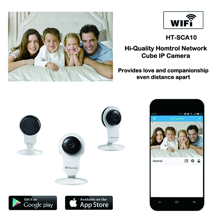 WiFi Wireless IP Camera for Baby Cam and Nanny Cam with enhance Night Vision and Motion Sensor