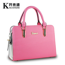 New 2015 European fashion simple women messenger bags hot sales princess wome leather handbags casual solid color women bag
