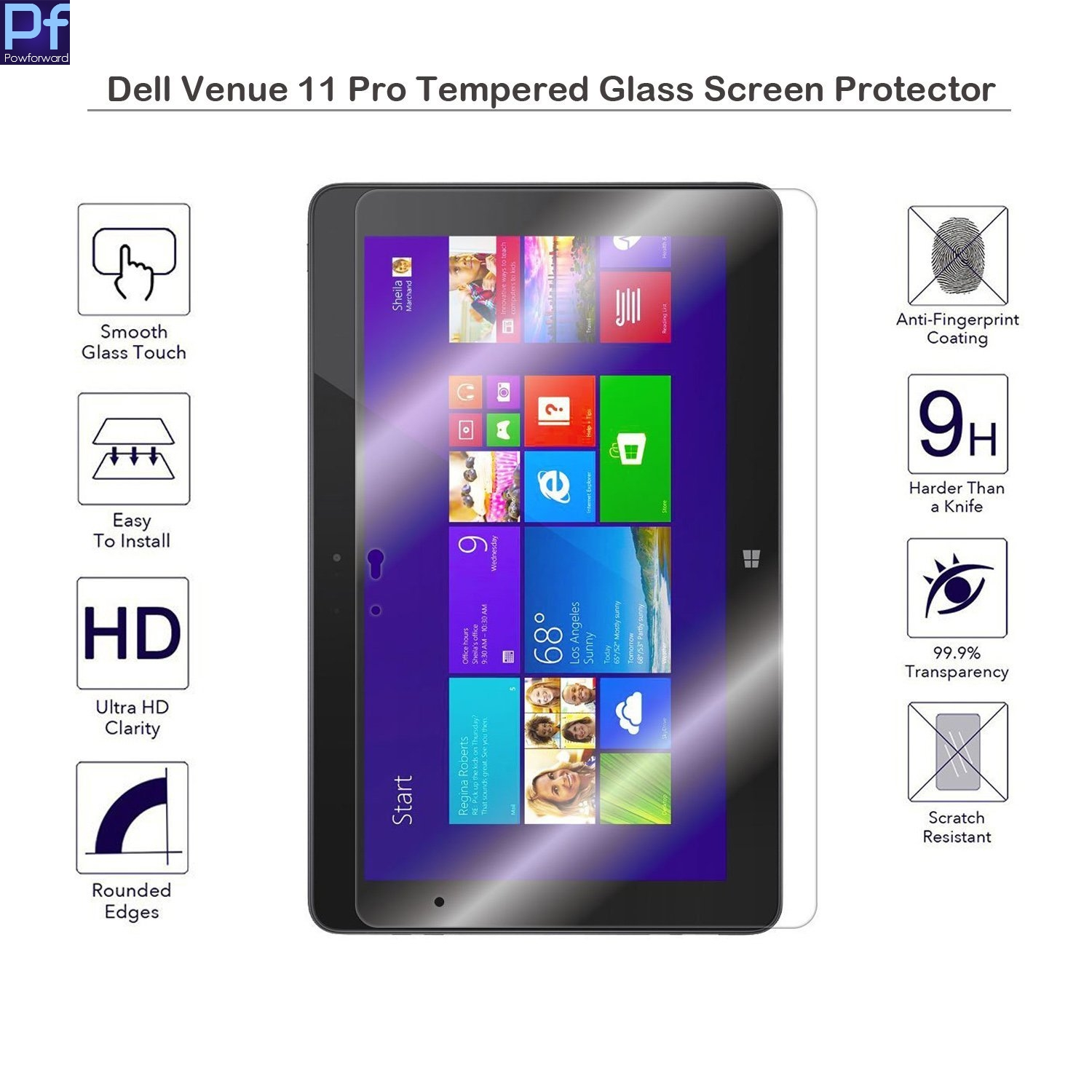 Screen-Guard-Film Dell Venue Screen-Protector Tablet Tempered-Glass 9H for 11