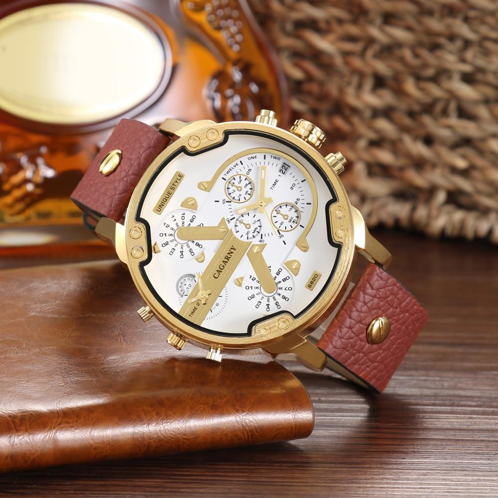 CAGARNY Fashion Luxury Top Marka Man Zegarki skórzany pasek - Męskie zegarki - Zdjęcie 3