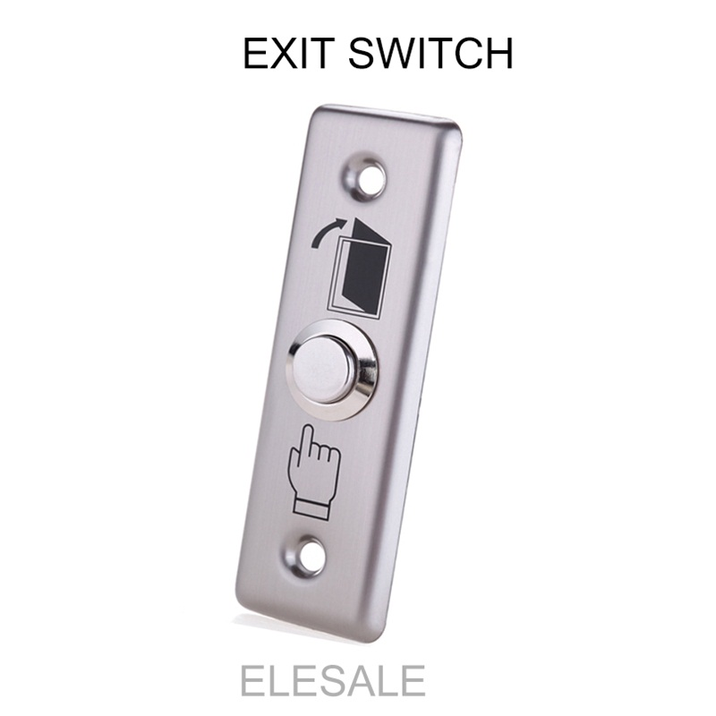 Stainless Steel Rectangle Exit Push Release Button Switch