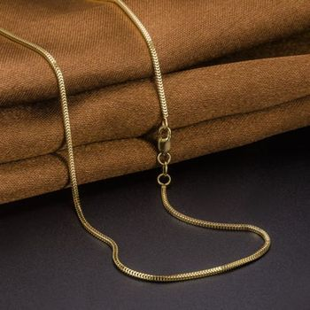 New Pure Au750 18K Yellow Gold Women's Milan Box Chain Necklace 20inch 1