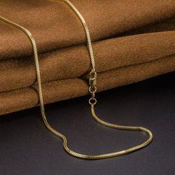 ¡Nuevo! collar de cadena de 20 pulgadas con caja de Milán para mujer de oro amarillo de 18K Au750