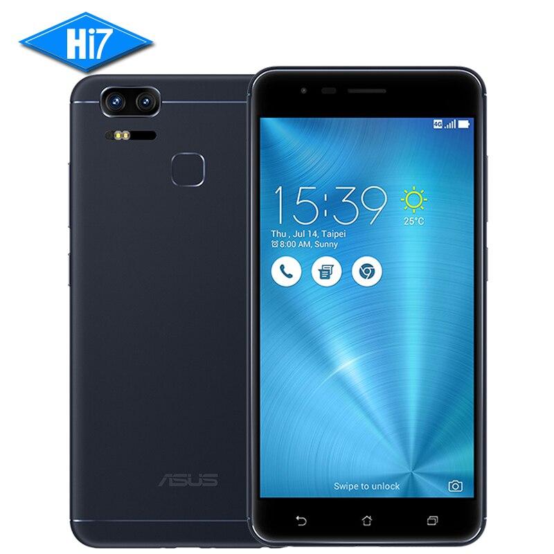 NOUVELLE D'origine ASUS Zenfone 3 Zoom ZE553KL Mobile Téléphone 4 gb RAM 128 gb ROM 5.5 Android D'empreintes Digitales ID 5000 mah 4g LTE Double 12MP