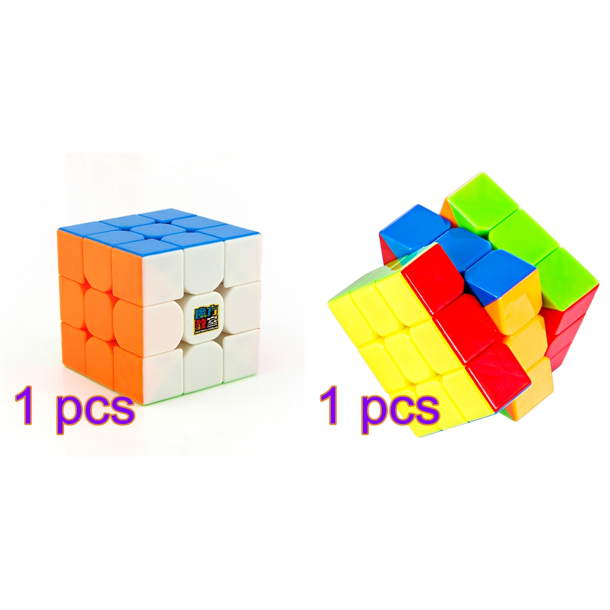 1pcs Cubing Classroom MF3RS 3x3 Magic Cube Set + 1pcs Cyclone Boys FeiWu Mini 3x3 Stickerless Speed New Cube 40mm 2019