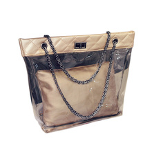 b0d82c424350 Летние Для женщин Повседневное Дорожные сумки пляжные Сумки Модные женские  Обувь для девочек желе кристалл Стиль