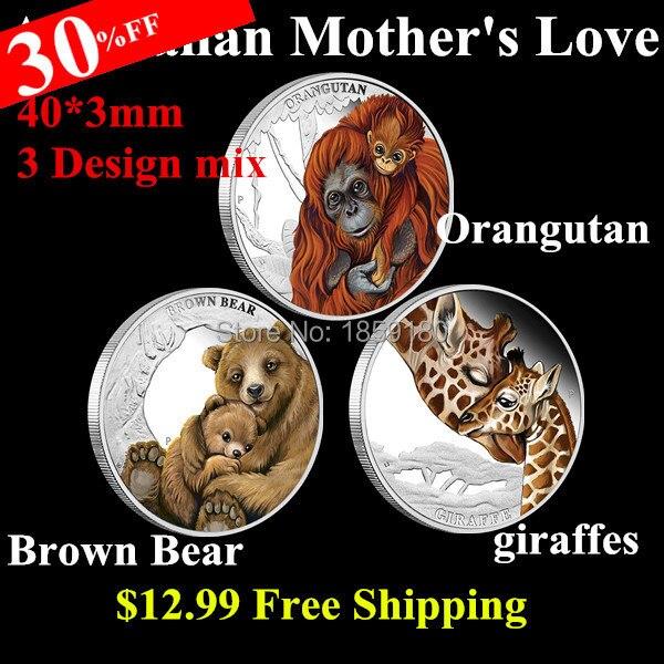 Australia Perth Mint Tuvalu Mother's Love Orangutan