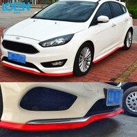 Car Styling 1PC Universal Rubber Carbon Fiber Front Bumper Lip Splitter Chin Spoiler Body Trim Rubber