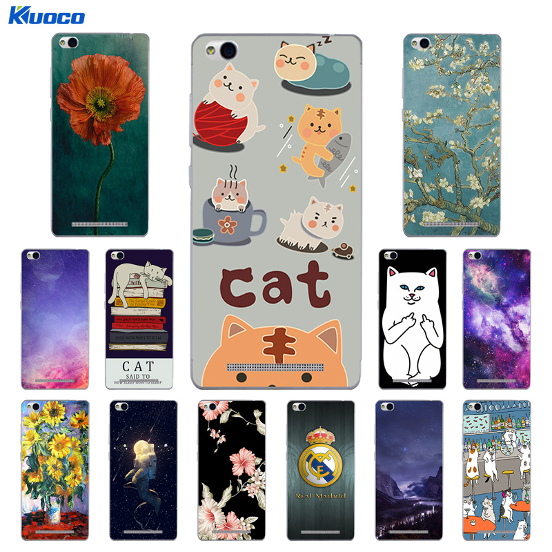 TPU Case for Xiaomi Redmi 3 Cat Landscape Printing Phone Back Cover for Redmi 3 Soft Silicon for Hongmi 3 Clear Coque Shell Capa