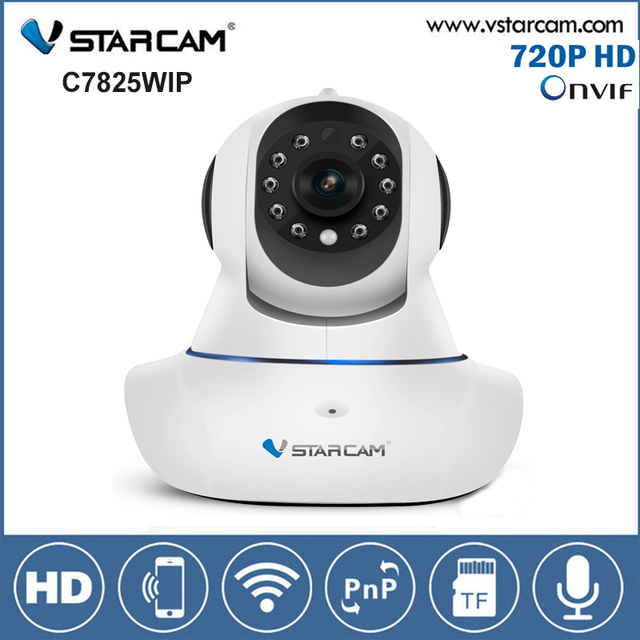 VStarcam C7825WIP WiFi IP Camera HD 720P 1MP Pan Tilt Onvif Indoor Mini Dome Infrared Night Vision Babay Monitor Wireless Camera