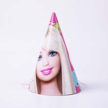 6pcs/lot Long hair princess Real person doll Party Decoration hats Baby shower Easter Wedding decor Supplies set