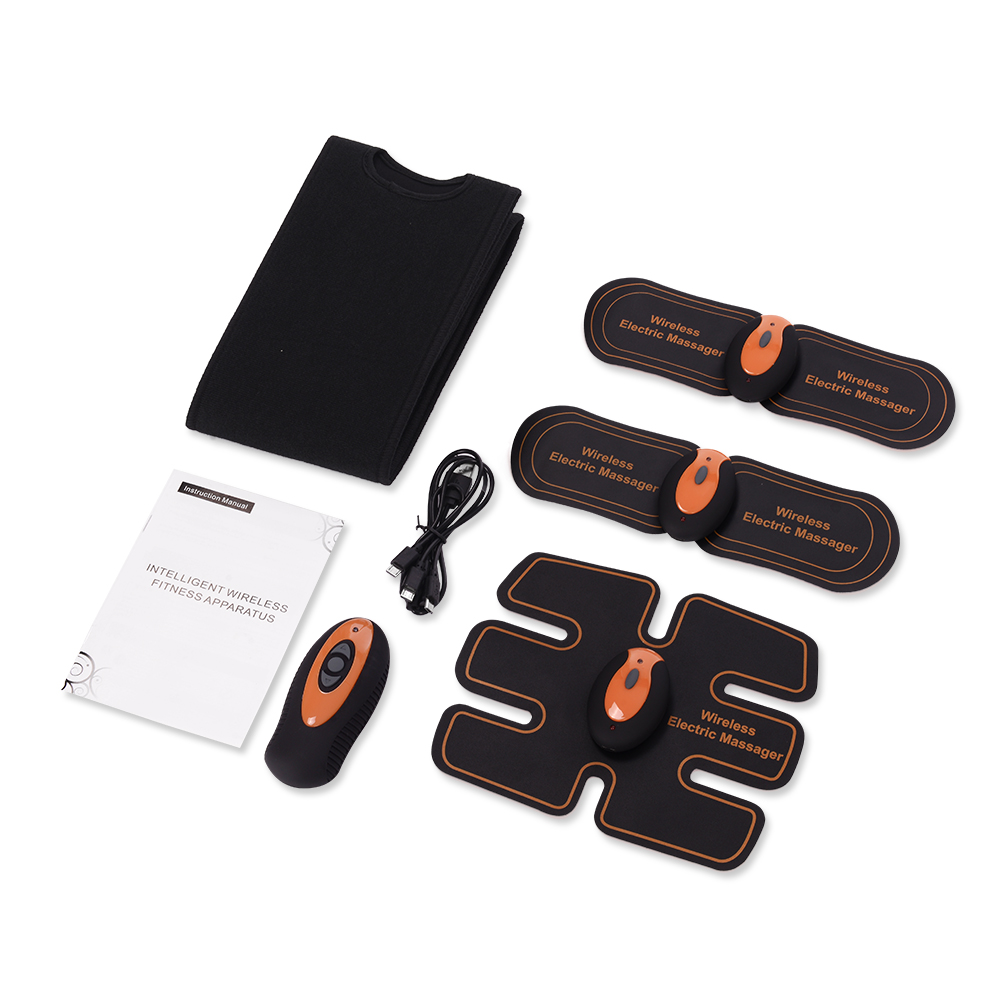 Rechargable Massage Unit Wireless Electric Massager Electrotherapy Back Pain Relief ABS Fit Muscle Stimulator Massager
