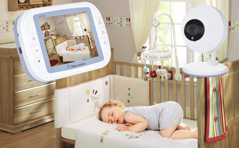 BabyKam 3.5 inch Wireless Video Baby Monitor Night Vision Video Nanny Baby Camera Temperature Monitor Digital Babyphone Camera