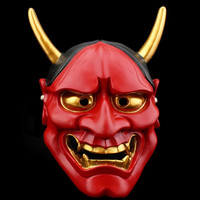 Resin Japanese Buddhist Evil Oni Noh Hannya Mask Cosplay Scary Mask Adult Fancy Costume Halloween Party Cosplay Face Mask Toys