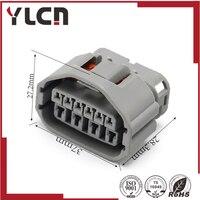 Alta qualidade 10 Pin auto plug caixa de plástico à prova d' água fio cablagem conector cinza