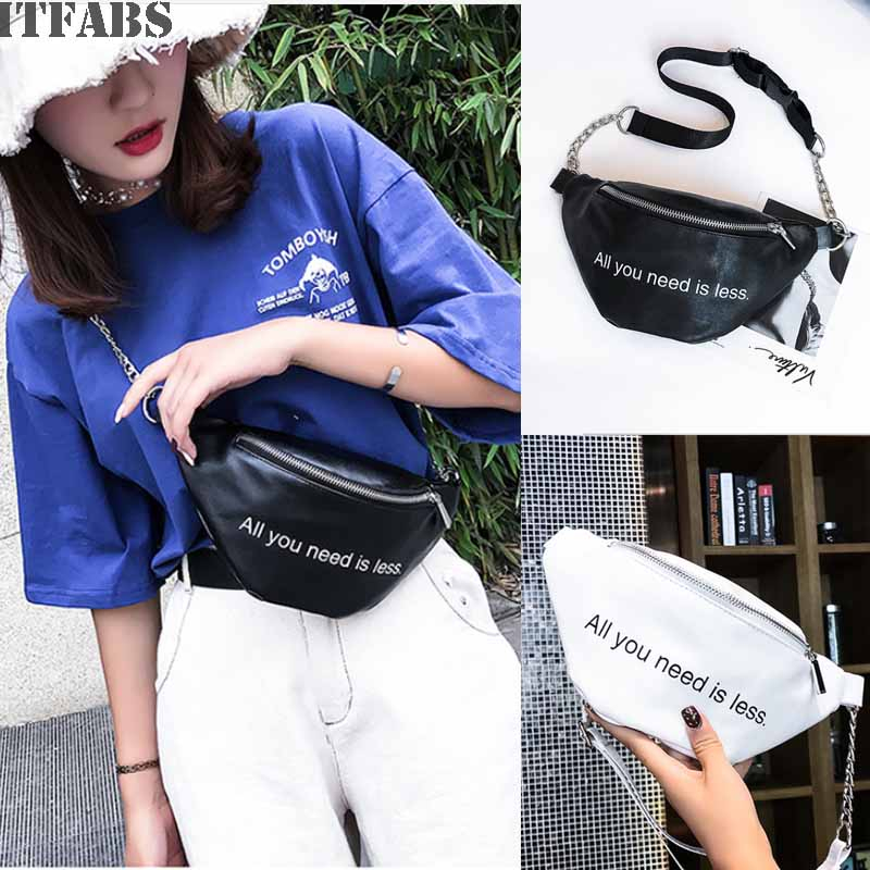 New Fashion Women Rhomboids Lines 4 Color / Letter Printed Chain Solid Cycling Jogging Waist Bag Pack Outdoor Sport Bag