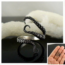 Deep sea octopus ancient silver plating fashion rings  Hot  jewelry to open the adjustable size Black Friday Christmas gifts