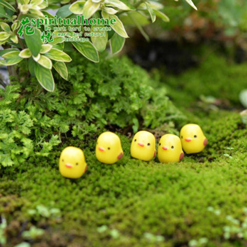 Zocdou 1 pçs pintainho biddy frango chook poult pequena estátua acessórios de decoração para casa em miniatura crianças decoração artesanato estatuetas