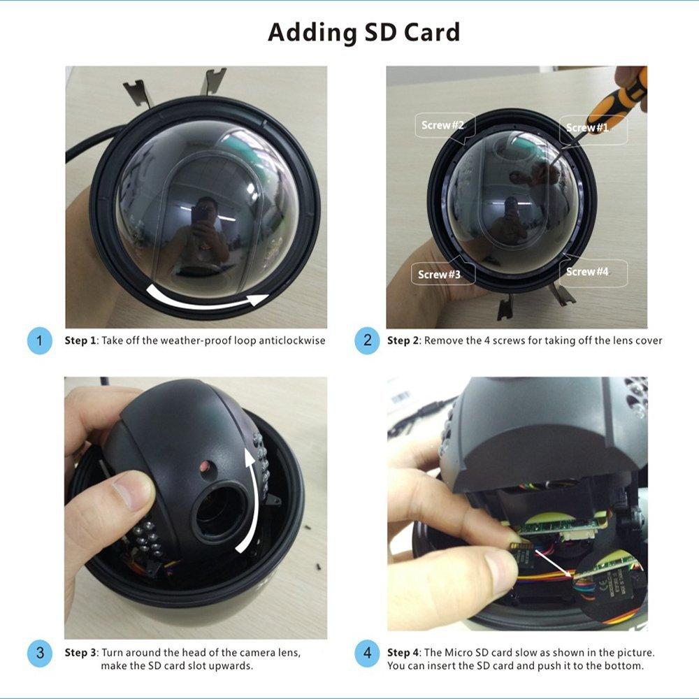 ZILNK Full HD 1080P Speed Dome IP-Kamera im Freien PTZ - Schutz und Sicherheit - Foto 5