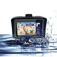 Motorcycle GPS Nvigation 4.3 inch TFT Touch screen with IPX7 Waterproof built in 16GB free map