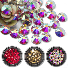 1 Box Nail Rhinestone 2088 New Cutting Faces Crystal Colorful Glass Flat Back Art Rhinestones For 3D Decorations