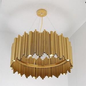 Image 3 - Włochy projekt złoty Delightfull Brubeck żyrandol aluminium rura ze stopu zawieszenia oprawy moda lampa projektorowa