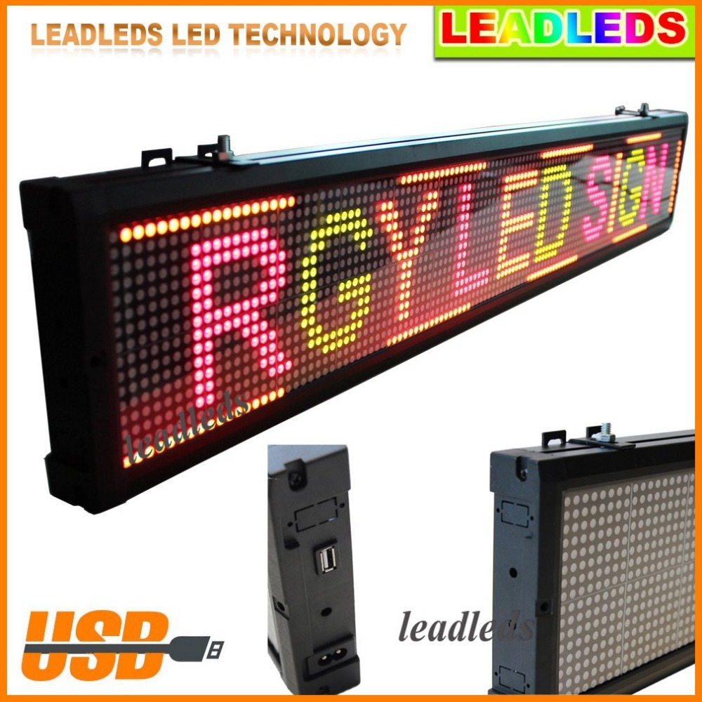 Colorful Led display Red/Green/Yellow Programmable Scrolling Message led sign Board for Business and Store
