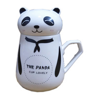 Office Originality Ceramics Mug Lovely Panda Personal Cup Personality with Lid Breakfast Cup Milk Drinkware Creative Gifts Cup