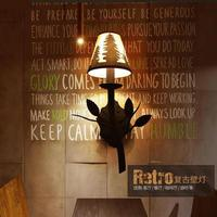 Europe Vintage Creative Iron Lamps Aisle Led Wall Lamp Restaurant Wall Retro light American Style Rural Lighting lamp cover