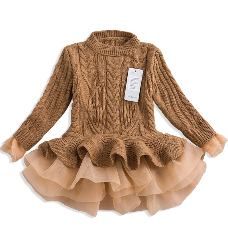 New 2018 Girls knitted Sweater Autumn Winter Warm Children Clothing Pullovers Sweaters Crochet Kids Girl Clothes цена