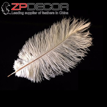 ZPDECOR 100 pcs/lot 25-30cm(10-12inch)Hand Select Small Ostrich Feathers SNOW WHITE Ostrich Dyed Drab Feathers Wholesale