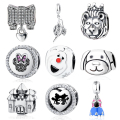 Authentic Sterling Silver 925 Original Charm Fit Pandora Bracelet Diy Charms Beads Fairy Tale Cartoon Mouse Jewelry Christmas