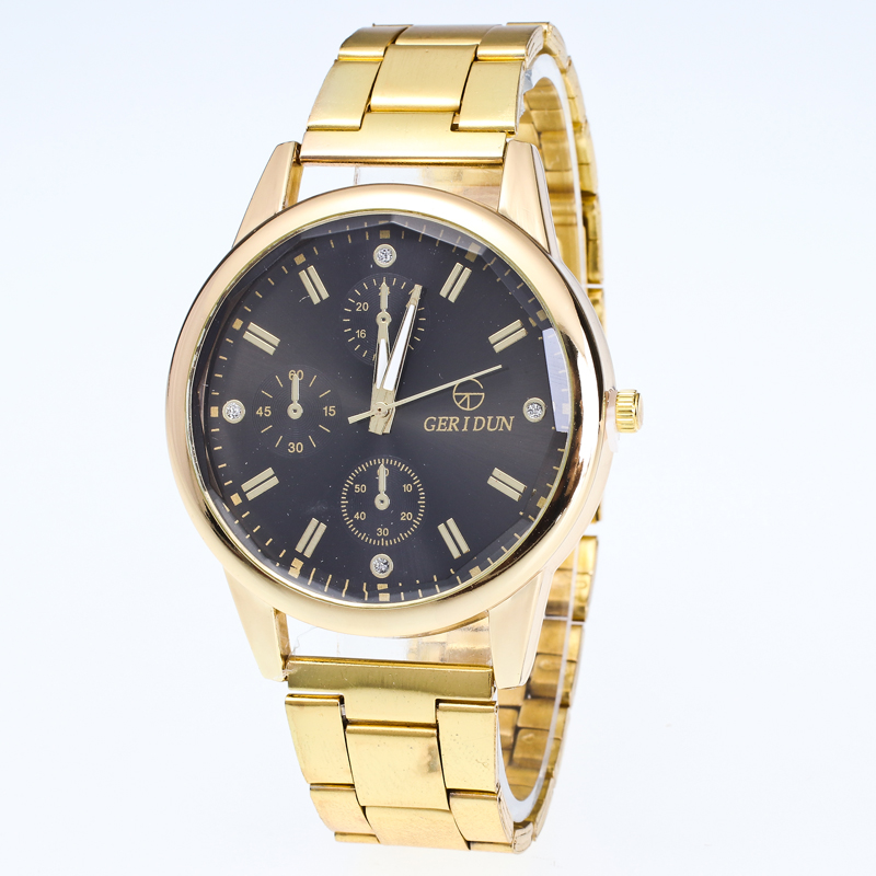 2017New Fashion Men Stainless Steel Gold Quartz Watches Top Brand Luxury Watch Clock Business Male Wristwatch relojes hombre G1 luxury top brand chenxi men dress watch stainless steel gold silver quartz wristwatch waterproof retro male business clock