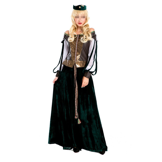 2 Pirate Femmes Longue Costume Robe Pcs Adulte Halloween Corset aXnqxa1wr7