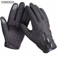 Windstopers Gloves Anti Slip Windproof Thermal Warm Touchscreen Glove Breathable Tactico Winter Men Women Black Zipper Gloves