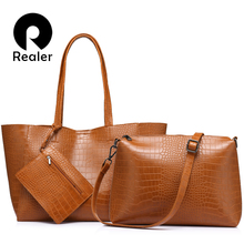 REALER brand big tote bags female casual large capacity shul