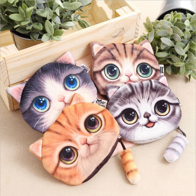 1pcs Lonely Cat Money Bag Wallet Gift For Kids Birthday Present Party Lady Gifts