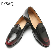Spring Sumner New Mens Shoes Slip on Round Toe Dress Leather Men Flat Drive