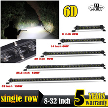 CO LIGHT 6D 30W 60W 90W 120W 150W Offroad Led Bar 8 14 20 25.6 32 Combo Light Auto Driving Work for Jeep ATV