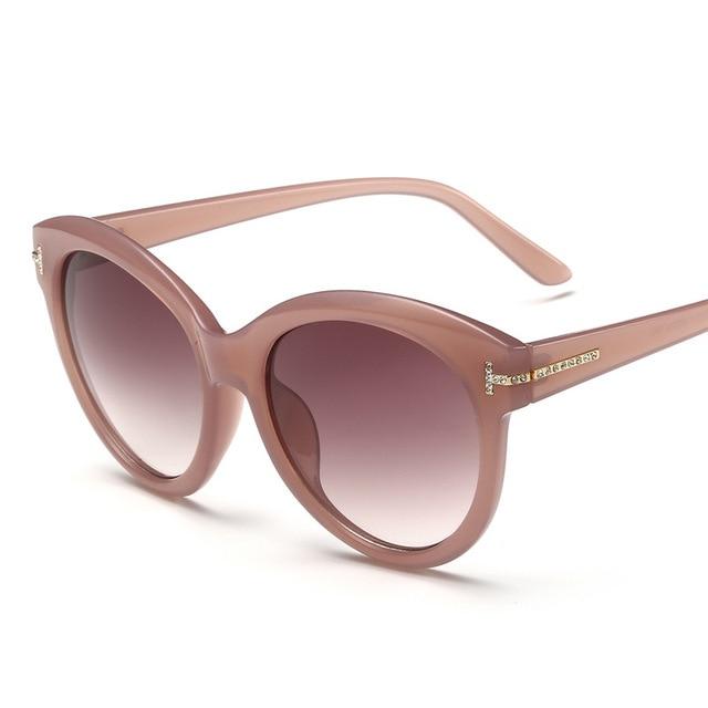 1dfc22a9dc Vazrobe T Rhinestone Sunglasses Women Round Sun Glasses for ladies vintage  tortoiseshell brown 2018 pink women s
