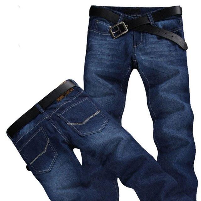 Бесплатная доставка 2016 новых прибыть мужская джинсовые брюки брюки Осенью и зимой синий хлопок джинсы MP335 оптовая
