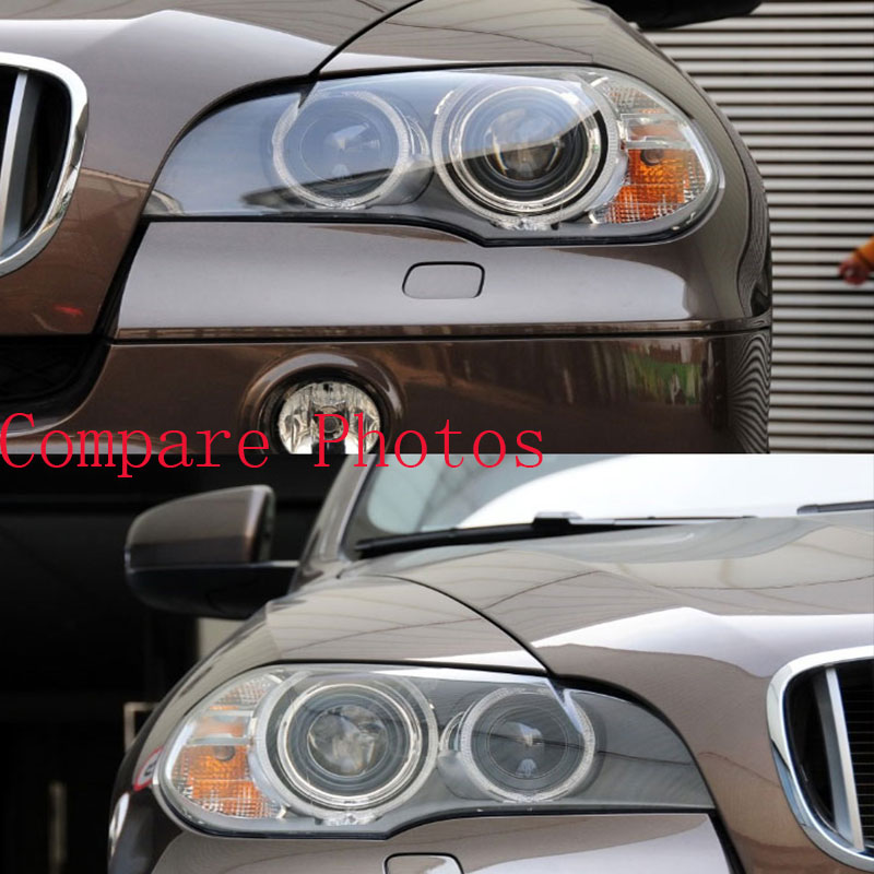 For BMW x5 Lens Lamp Shade Front Headlight Shade Lens Cover Lens Light Glass Cover  E70 E71 2008-2013 Lighthouse lens hood