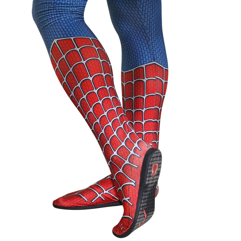 Superhero Spider Man Cosplay Black Soles Props Shoes