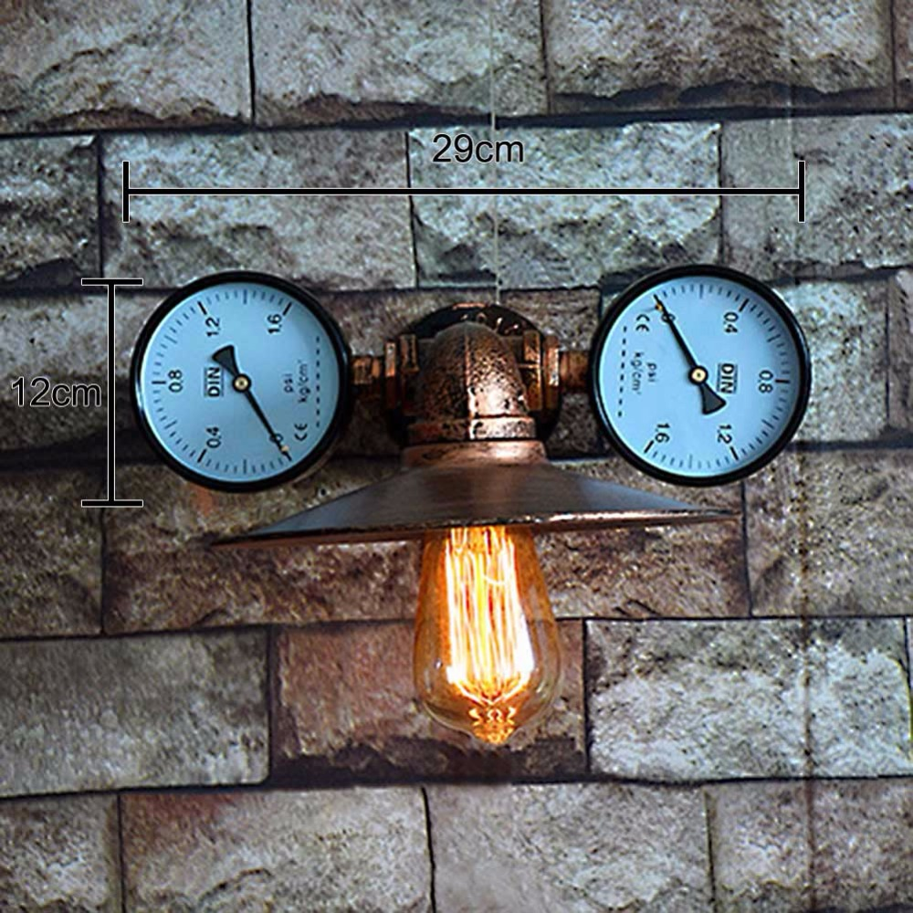 ФОТО Creative Ancient Water Pipe Wall Lamp Sconce American Vintage Industrial Light Fixtures Bar Coffee Home Decor Apliques Pared