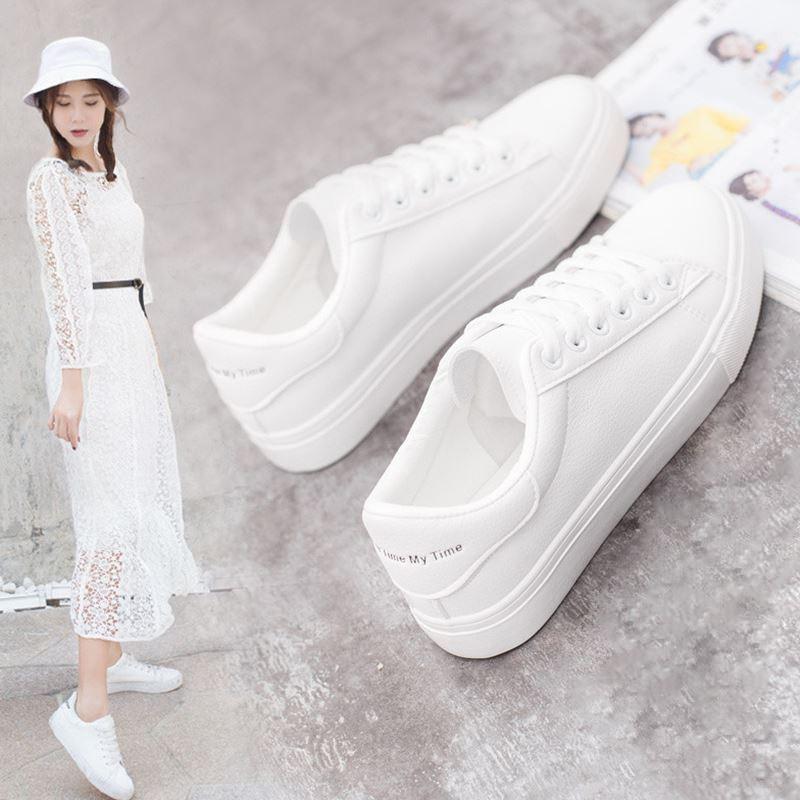 Women Sneakers Platform Feminino Zapatos De Mujer Breathble Vulcanized Shoes Woman White Platform Casual Shoes