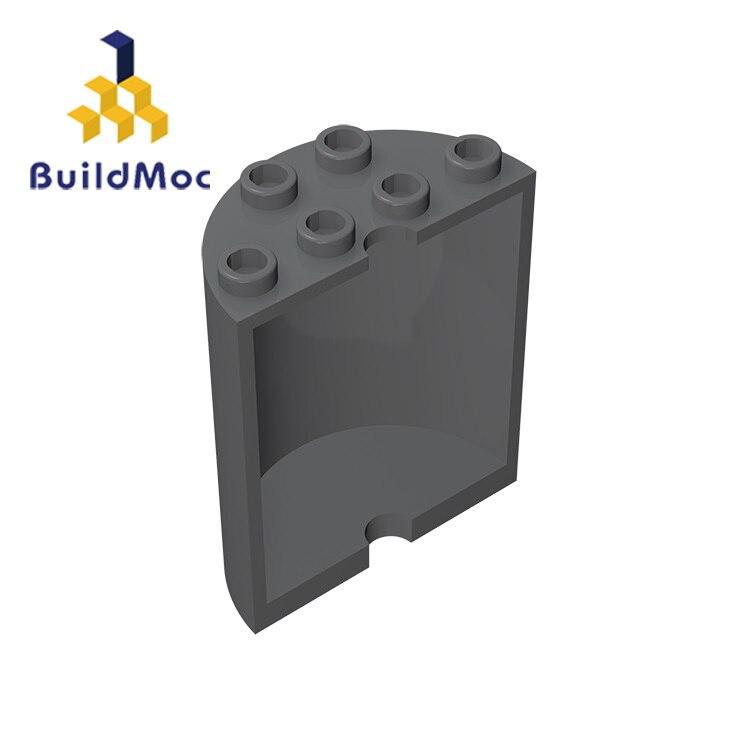 BuildMOC Assembles Particles 20430 6259 Cylinder Half 2x4x4 StudsFor Building Blocks Parts DIY Educational Gift Toys